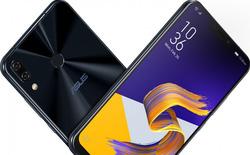 Asus trình làng Zenfone 5/5z, màn hình 6.2 inch chiếm 90% mặt trước, dùng chip Snapdragon 845, có tai thỏ nhưng nhỏ hơn iPhone X