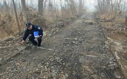 Người đàn ông Trung Quốc bị bắt vì ăn trộm 800m đường bê tông đem bán