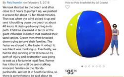 Không thể nhịn cười với review quả bóng khổng lồ đường kính 2m trên Amazon