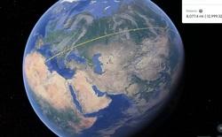 Google Earth có thêm công cụ đo lường, giúp người dùng đo khoảng cách và diện tích trên bản đồ