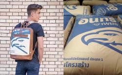 Ba lô may từ vỏ bao xi măng Thái Lan đang gây sốt ở Châu Âu, bán rõ đắt vẫn ối người mua
