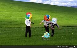 """[Vui] Tổng hợp loạt hình nền máy tính hài hước nhất, Internet Explorer chuyên bị """"bắt nạt"""""""