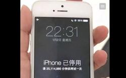 Trung Quốc: iPhone bị khóa 47 năm vì nhập sai mật khẩu quá nhiều lần