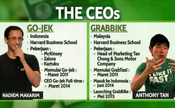 Grab - Go-Jek: Cuộc đối đầu của 2 startup kỳ lân ở Đông Nam Á và màn tỉ thí giữa 2 người bạn học Harvard