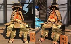 Bộ giáp samurai này được làm từ 1750 đồng xu, tác giả là một cậu bé tiểu học