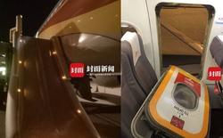 Hành khách Trung Quốc bật cửa thoát hiểm trên máy bay để hít thở không khí trong lành trước khi cất cánh