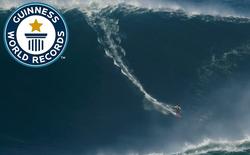 Làm chủ con sóng khổng lồ cao 24m, vận động viên lướt sóng Brazil lập kỷ lục Guinness mới