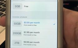 Apple tặng miễn phí một tháng dùng thử iCloud dung lượng 50GB, 200GB và 2TB