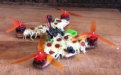 Cùng xem chiếc drone làm từ pizza này bay lượn trên bầu trời không khác gì máy bay thực thụ