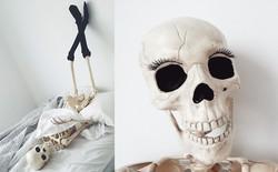 Chết cười với bộ xương chuyên cosplay hội chị em ham sống ảo