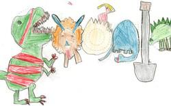 Bức vẽ nguệch ngoạc này vừa đoạt giải nhất cuộc thi Doodle 4 Google trị giá 30.000 USD, tác giả là một cô bé lớp 1