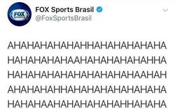 """Trang FOX Sports Brasil đăng dòng trạng thái gồm 312 từ """"Ahaha"""" lên Facebook sau khi Đức thua sấp mặt trước Hàn Quốc"""