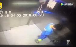Tiểu bậy trong thang máy, cậu bé Trung Quốc bị mẹ phạt lau dọn suốt 1 tháng cho chừa
