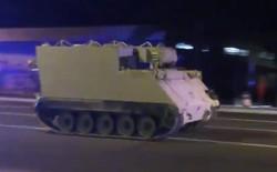 Quân nhân đánh cắp xe bọc thép để chạy trốn khiến cảnh sát phải rượt đuổi như phim hành động