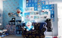 Gia đình kỳ lạ tại Indonesia cuồng Doremon tới nỗi dán hình Doremon khắp ngôi nhà