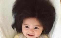 Nhóc tì 7 tháng tuổi đến từ Nhật Bản khiến cả internet phải trầm trồ vì có mái tóc giống hệt sư tử