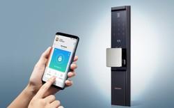 Samsung ra mắt khóa cửa thông minh, có thể mở bằng smartphone, tích hợp vân tay