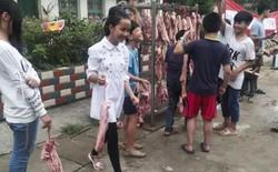 Ngoài bằng khen, học sinh nghèo vượt khó ở vùng quê Trung Quốc được tặng mỗi em 6 lạng thịt ba chỉ