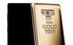 """Cho rằng vẻ ngoài Galaxy Note9 chưa đủ """"chảnh"""", hãng Caviar đặt thêm hẳn 1 cân vàng lên mặt lưng smartphone này"""