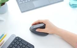 Logitech công bố chuột MX Vertical: nghiêng 57 độ so với bàn di chuột, giảm áp lực cổ tay, chống đau cẳng tay