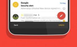 Gmail trên Android cho phép người dùng có thể lấy lại thư đã gửi
