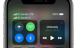 iPhone Xs Max 2 SIM vật lý có biểu tượng cột sóng như thế nào?