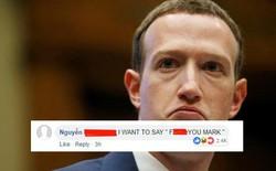 Đáng buồn thay, bình luận tục tĩu của 1 bạn trẻ Việt lại được lên top trang cá nhân của Mark Zuckerberg