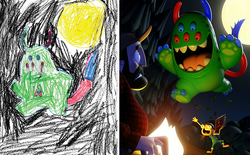 [Ảnh] Chiêm ngưỡng những tác phẩm độc đáo, kỳ lạ của trẻ em khi được chấp bút bởi họa sĩ chuyên nghiệp