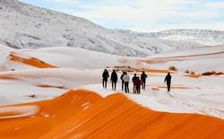 Ảnh vệ tinh xác nhận tuyết rơi ở sa mạc Sahara là có thật