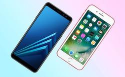 So găng Galaxy A8 và iPhone 7: Giá rẻ hơn nhưng vẫn cao cấp hơn