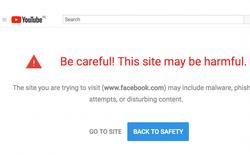 """YouTube đánh dấu Facebook và website của Nhà Trắng, IBM... là """"độc hại"""""""