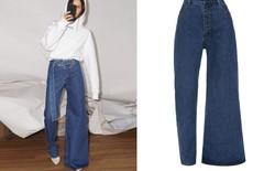 Chiếc quần jeans bên loe bên xìu giá 8 triệu 7 hứa hẹn phá đảo làng thời trang năm 2019