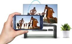 Với tính năng Remote Access, smart TV của Samsung có thể kết nối hoàn toàn không dây với thiết bị ngoài