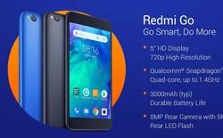 Smartphone giá rẻ Redmi Go chính thức ra mắt: Màn hình 5 inch, camera đơn, chip Snapdragon 425, RAM 1GB, giá bán từ 2,1 triệu đồng