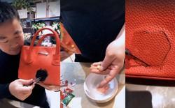 Thực hư phía sau clip dùng kẹo cao su để vá túi hiệu gây tranh cãi