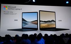 Surface Laptop 3 ra mắt: Màn hình 13.5 inch và 15 inch, chip Intel Ice Lake và AMD Ryzen, giá từ 999 USD