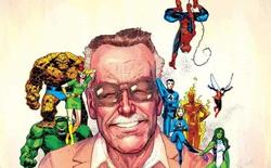 """Marvel tri ân 1 năm ngày mất của Stan Lee với bức vẽ """"bố già"""" quây quần bên đàn con siêu anh hùng đầy xúc động"""