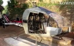 Indonesia: Ngán ngẩm cảnh tắc đường mỗi ngày, ông chú chi gần 14 tỉ đồng để tự chế chiếc trực thăng bay cho nó thoáng