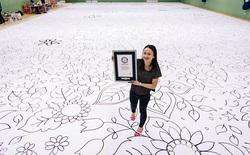 Đây là bức tranh lớn nhất thế giới với kích thước hơn 500m2, được vẽ liên tục trong vòng 12 tiếng