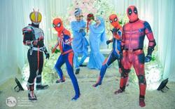 """Đi đám cưới cô em út, 4 ông anh ruột diện đồ siêu anh hùng để """"dọa"""" chú rể: Nhớ chăm sóc em gái bọn anh cho tốt nhé"""