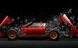 Ngắm nhìn bức ảnh được thực hiện trong 2 năm, chụp chiếc Lamborghini 2 triệu USD bị tháo ra cả nghìn mảnh