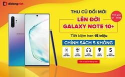 Khách dùng Galaxy Note 8, Note 9 tiết kiệm đến hơn 13 triệu đồng khi lên đời Galaxy Note 10, 10+ tại Di Động Việt