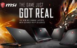 """MSI ra mắt dòng sản phẩm mới và cập nhật toàn bộ các mẫu laptop chơi game với card đồ họa siêu """"đỉnh"""""""