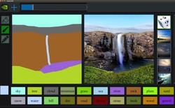 AI của Nvidia có thể biến một hình nguệch ngoạc giống như được vẽ bằng Paint thành tác phẩm nghệ thuật