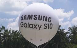 Samsung chơi lớn khi đưa 10 chiếc Galaxy S10 lên độ cao tới 24km so với mặt đất và thả rơi xuống đất