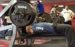 Nặng 70kg nhưng đẩy được tạ 186kg, anh chàng châu Á khiến internet bất ngờ vì khả năng thiên phú