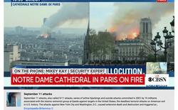 YouTube nhầm lẫn đám cháy Nhà Thờ Đức Bà Paris với vụ khủng bố 11/9 tại New York