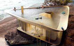 Cần gì phải ra biển tắm khi bạn có thể ngụp lặn ngay trên nóc nhà với ý tưởng thiết kế độc lạ này