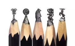 Thanh niên khéo tay ngồi đẽo ngòi bút chì thành bộ gia huy Game of Thrones siêu nhỏ