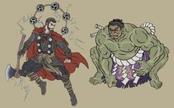Nghệ sĩ Nhật Bản tái hiện các siêu anh hùng Marvel dưới phong cách nghệ thuật dân gian thời Edo